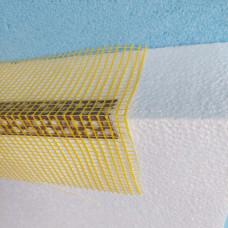 Уголок ПВХ фасадный перфорированный с сеткой 10х10 см 2,5 м