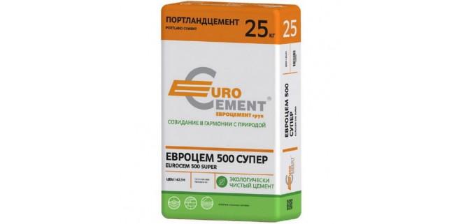 Цемент ПЦ I-500-Д0-Н (25 кг) Евроцемент Балцем (заводская тара)