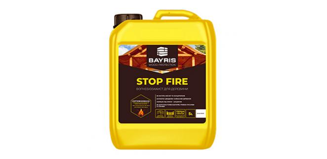 Огнебиозащита Stop Fire БАЙРИС 10 л