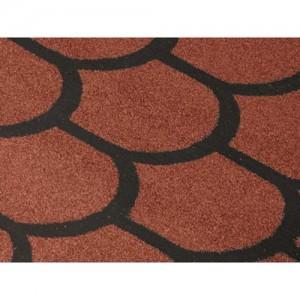 Рулонная черепица «Бобровый хвост» (коричневая, красная, зеленая)