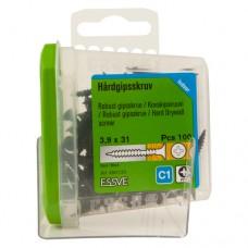 Саморезы ESSVE (Швеция) 3,9*31 для твердого гипсокартона дерево/металл фосфат. PH2 (100 шт.)