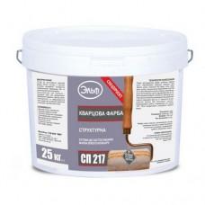 Эльф СП 217 структурная кварцевая краска белая 25 кг
