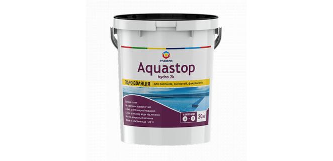 Aquastop Hydro 2К Eskaro двухкомпонентная эластичная гидроизоляция 20 кг