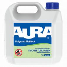 Aura Unigrund Bioblock Укрепляющий антиплесневый грунт 5 л
