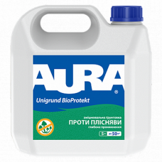 Aura Unigrund Bioprotekt Укрепляющий антиплесневый грунт 1 л