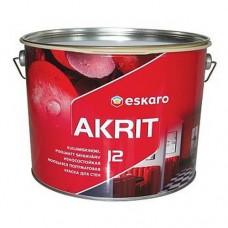 Eskaro Akrit 12 моющаяся износостойкая полуматовая краска для стен 9,5 л