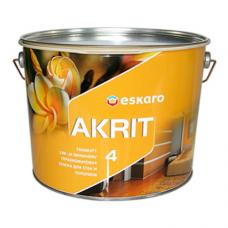 Eskaro Akrit 4 глубокоматовая краска для потолков и стен 9,5 л