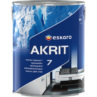 Eskaro Akrit 7 TR моющаяся шелково-матовая краска для стен 9 л