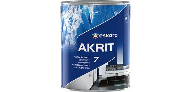Eskaro Akrit 7 TR моющаяся шелково-матовая краска для стен 2,7 л