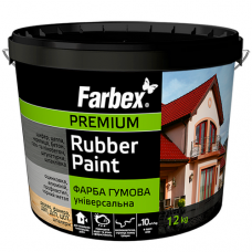 Резиновая краска Farbex 12 кг Белая матовая