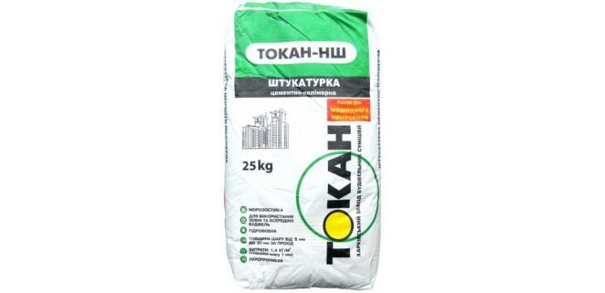 Токан НШ штукатурка цементно-полимерная, 5-30 мм, 25 кг