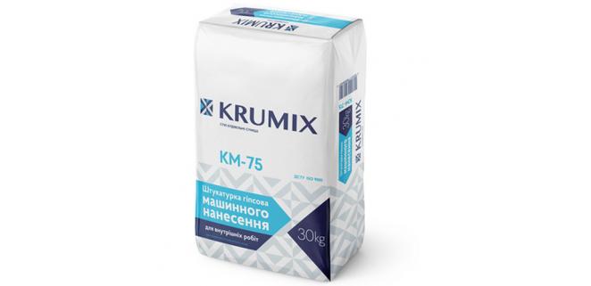 KM-75 КРУМИКС (IFCEM) Штукатурка гипсовая машинного нанесения, 30 кг