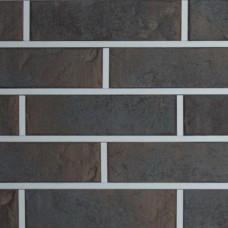 Кирпич клинкерный Графит Рустика с ангобом Керамейя 250x90x65 мм, Ф 10, 32%
