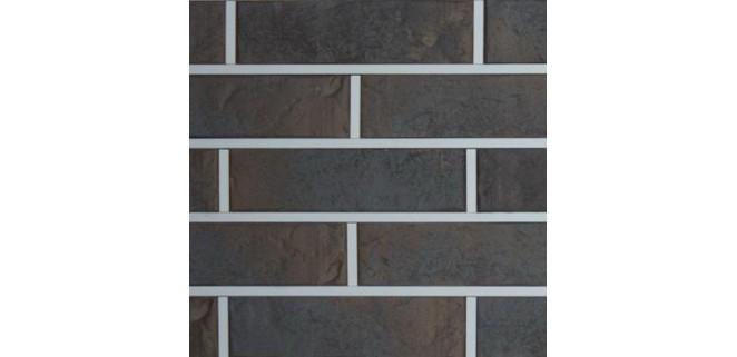 Кирпич клинкерный Графит Рустика с ангобом Керамейя 250x60x65 мм, ПР 1/2, 28%