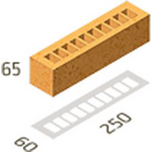 Кирпич клинкерный Янтарь Рустика без посыпки Керамейя 250x60x65 мм, ПР 1/2, 28%