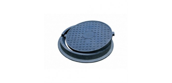 Люк Л-60.80.10-ПК полимерпесчаный черный 4,5 т арт. 30288-80