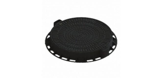 Люк Л-60.80.10-ПП садовый пластиковый черный «Лого» арт. 35188-80Л