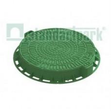 Люк Л-60.80.10-ПП пластиковый зеленый «Лого» арт. 35188-82Л
