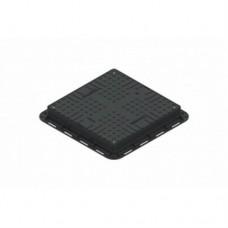 Люк ЛК-56.70.09-ПП квадратный пластиковый черный с замком арт. 35487-20