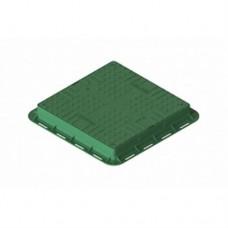 Люк ЛК-56.70.09-ПП квадратный пластиковый зеленый с замком арт. 35487-22