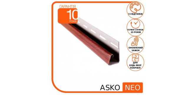 J-профиль для крепления софитов ASKO NEO (8 цветов под дерево) 3,8 м