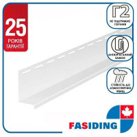 Планка навесная FaSiding WoodHouse 3,05 м Белая