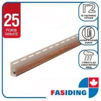 Планка J-trim FaSiding WoodHouse 3,05 м Золотой дуб