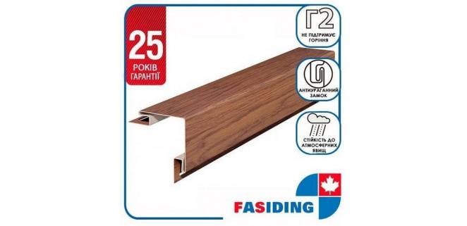 Планка угол внешний FaSiding WoodHouse 3,05 м Золотой дуб