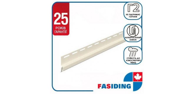 Планка стартовая FaSiding WoodHouse 3,05 м Белая