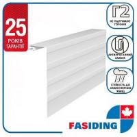 Планка околооконная большая FaSiding WoodHouse 0,25х3,05 м Белая