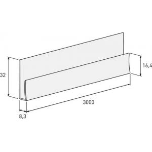Планка стартовая Solid System 3 м (под светлый и темный шов)