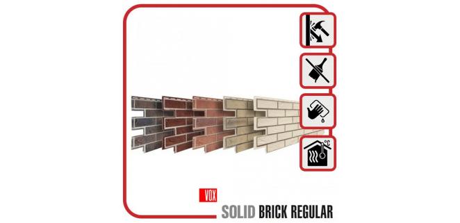 Панель фасадная Solid Brick 1,00х0,42 м (5 цветов)