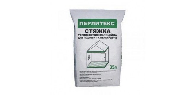 Перлитэкс стяжка для пола и перекрытий теплозвукоизоляционная 35 л