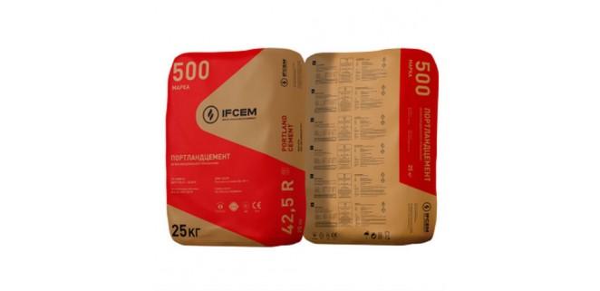 Цемент ПЦ II-500-Д-20-Н (25 кг) Ивано-Франковск (заводская тара)