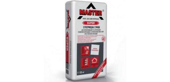 Мастер супер (MASTER SUPER) универсальная смесь для армирования пенопласта и минеральной ваты 25 кг