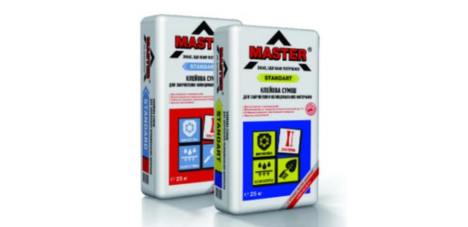 Мастер Стандарт (Master Standart) клей для плитки для внутренних и наружных работ (серый) 25 кг