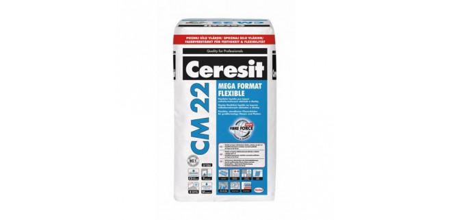 Ceresit CM 22 MEGA FORMAT FLEXIBLE Высокоэластичная клеющая смесь для плитки большого формата 25 кг