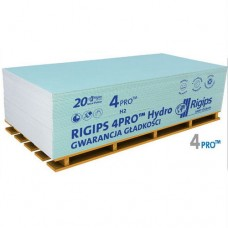 Гипсокартон влагостойкий 2 м RIGIPS 4PRO 1200*2000*12,5 мм