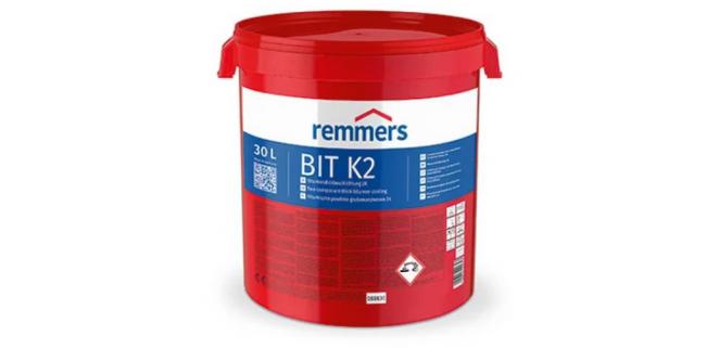 Remmers BIT 2K Мастика битумно-полимерная для гидроизоляции фундамента 30 л