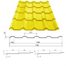 Металлочерепица Афина 350/20 полиэстер 0,45 мм Китай Эконом