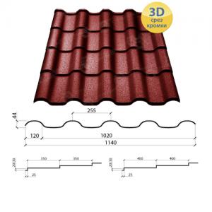 Металлочерепица Альпина 350/30 полиэстер 0,45 мм Китай OPTIMA STEEL™