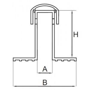 Аэратор (флюгарка) двойная с ПВХ, в.400 мм, д.75 мм Свитондейл (ТехноНИКОЛЬ)