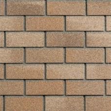 Фасадная битумная плитка HAUBERK ТехноНИКОЛЬ: коллекция Кирпич, цвет Песчаный (м.кв.)