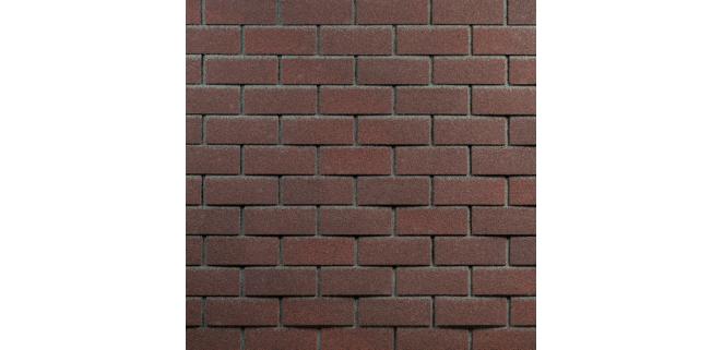 Фасадная битумная плитка HAUBERK ТехноНИКОЛЬ: коллекция Кирпич, цвет Обожженный (м.кв.)
