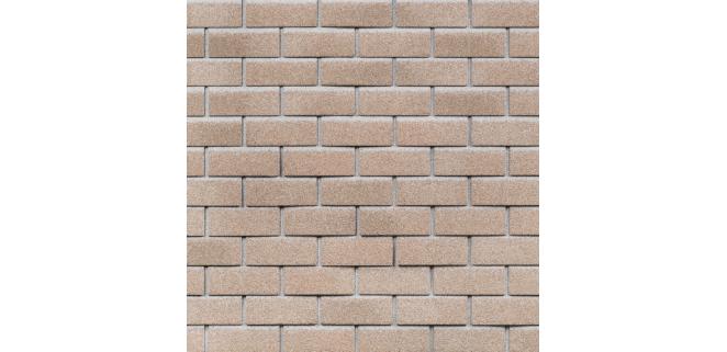 Фасадная битумная плитка HAUBERK ТехноНИКОЛЬ: коллекция Кирпич, цвет Античный (м.кв.)