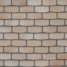 Фасадная битумная плитка HAUBERK ТехноНИКОЛЬ: коллекция Камень, цвет Травертин (м.кв.)