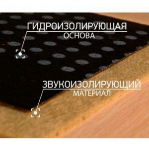 Шуманет-100Комби - звуко- гидроизолирующая подложка, 10х1 м