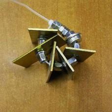 Пластина усиления с гайкой М6 для виброподвесов