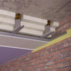 Каркасный звукоизоляционный потолок 200 мм на подвесах Шуманет-коннект КС
