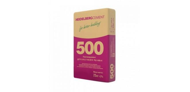 Цемент ПЦ I-500-Н (25 кг) Хайдельберг